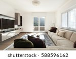 modern apartment  view of... | Shutterstock . vector #588596162