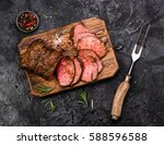 Sliced Grilled Roast Beef With...