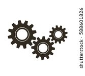 gears on a white background.... | Shutterstock .eps vector #588601826