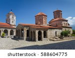 sveti naum monastery at lake... | Shutterstock . vector #588604775