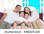 indoor portrait of beautiful... | Shutterstock . vector #588605168