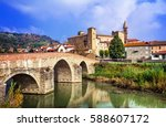 impressive bormida monastery... | Shutterstock . vector #588607172