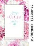 vector spring vertical banner... | Shutterstock .eps vector #588608492