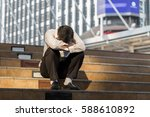 tried and stressed business man ... | Shutterstock . vector #588610892