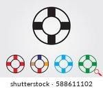 lifebuoy  icon  vector... | Shutterstock .eps vector #588611102