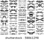 a set of 65 unique  decorative  ... | Shutterstock .eps vector #58861298