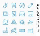 computer components web icons...