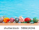 easter in pool  wellness and... | Shutterstock . vector #588614246