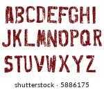 grunge alphabet    26... | Shutterstock .eps vector #5886175