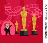 film awards design flat banner... | Shutterstock .eps vector #588619172
