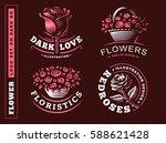 Set Flowers Logo   Vector...