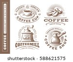 coffee logo   vector... | Shutterstock .eps vector #588621575