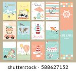 travel collection for banners... | Shutterstock .eps vector #588627152