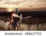 fearless young spartan warrior... | Shutterstock . vector #588627752
