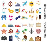 travel and vacation icon... | Shutterstock .eps vector #588629138