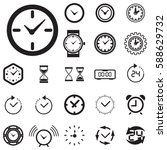 clock icon isolated. time logo  ... | Shutterstock .eps vector #588629732