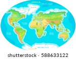 the world geographical map.... | Shutterstock .eps vector #588633122