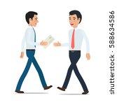 businessmen handing...   Shutterstock .eps vector #588634586