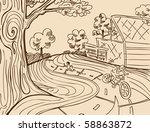 park recreation | Shutterstock .eps vector #58863872