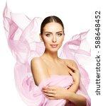 woman beauty face  young... | Shutterstock . vector #588648452