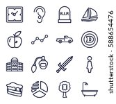 sign icons set. set of 16 sign... | Shutterstock .eps vector #588654476