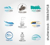 train logo design template.... | Shutterstock .eps vector #588656918