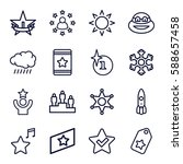 star icons set. set of 16 star... | Shutterstock .eps vector #588657458