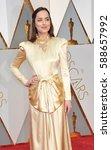dakota johnson at the 89th... | Shutterstock . vector #588657992