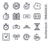 clock icons set. set of 16... | Shutterstock .eps vector #588660632
