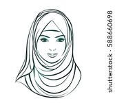 isolated portrait of islamic...   Shutterstock .eps vector #588660698