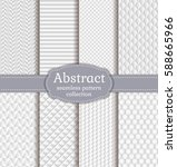 set of white seamless patterns. ... | Shutterstock .eps vector #588665966
