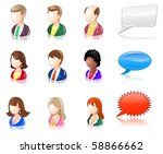 various people glossy iconset | Shutterstock .eps vector #58866662
