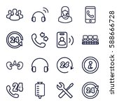 support icons set. set of 16... | Shutterstock .eps vector #588666728