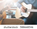 masterclass learning to play... | Shutterstock . vector #588668546
