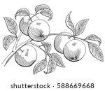 apple graphic black white...   Shutterstock .eps vector #588669668