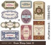 set of ornate vintage labels | Shutterstock .eps vector #58866983