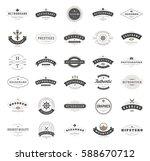 vintage logos design templates... | Shutterstock .eps vector #588670712