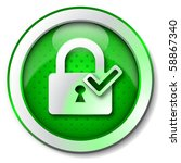 security lock on icon | Shutterstock . vector #58867340