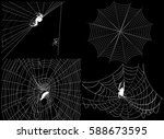 illustration with four spider... | Shutterstock .eps vector #588673595