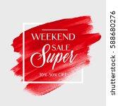 sale super weekend sign over... | Shutterstock .eps vector #588680276