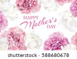 happy mothers day greeting card ... | Shutterstock .eps vector #588680678