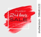 sale special offer '24 hours'... | Shutterstock .eps vector #588681122