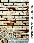 old red brick wall textures and ... | Shutterstock . vector #588682802