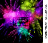 paint powder smoky explosion.... | Shutterstock .eps vector #588685856