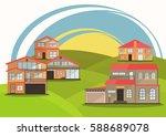 vector illustration of cute... | Shutterstock .eps vector #588689078