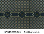 vintage pattern on black... | Shutterstock .eps vector #588692618