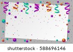 banner with paper colored dust  ... | Shutterstock .eps vector #588696146