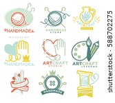 art and handmade craft logo... | Shutterstock .eps vector #588702275