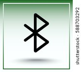 bluetooth sign icon  vector... | Shutterstock .eps vector #588703292