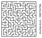 maze   labyrinth with entry and ... | Shutterstock . vector #588704786